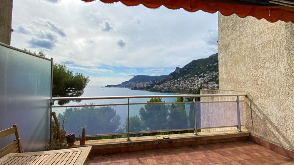 2 pièces vue Panoramique Mer et Monaco